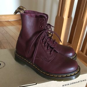 women's cherry red doc martens boots